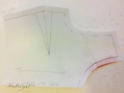 Metode 2: Knib vidden væk i mønsterpapiret.