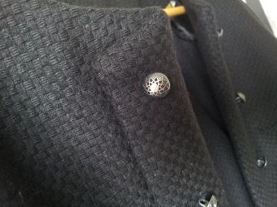 Knapperne er fra en knap butik i Paris, hvor de havde så mange fine knapper, at jeg brugte næsten hele feriens shoppe budget i den butik.