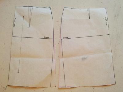 Tilretning af sidesøm i nederdel