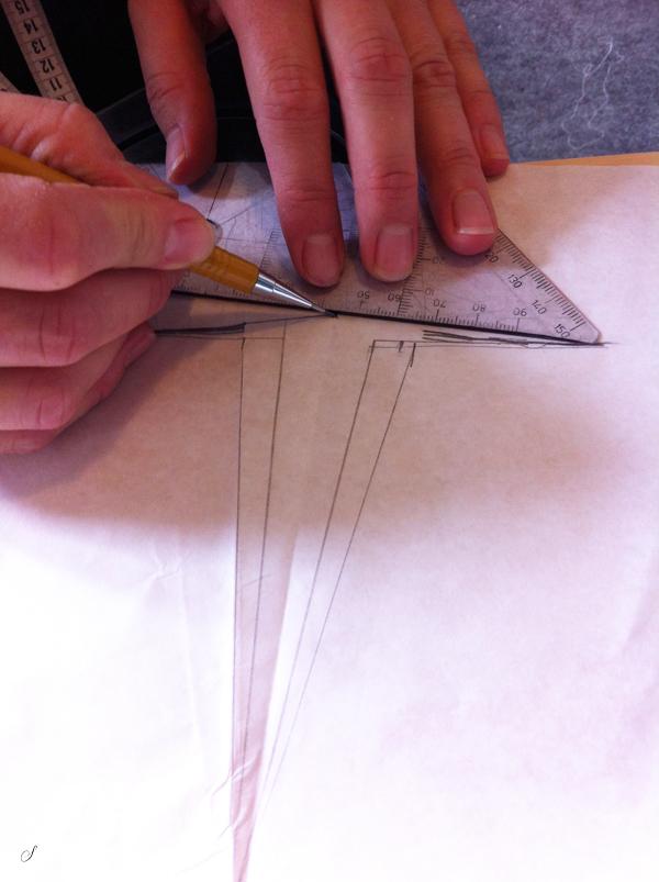 grundmønster til nederdel - tilpas indsnit