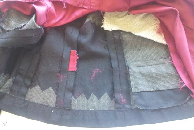 Foer - foret skjoler indersiden af tøjet