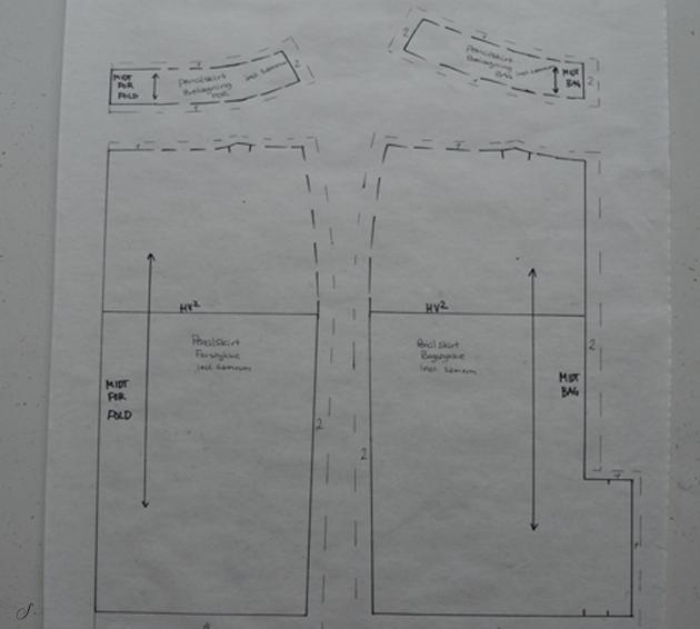 symønstre til nederdel